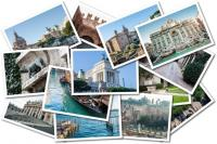 Photo Collage of Italy - cities such as Rome, Venice and Verona