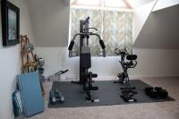 Workout room with equipment