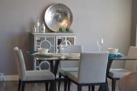 Dining room with silver and gray colors