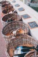 Baskets with bottle of wines