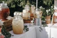 Cold brewed tea at spring table