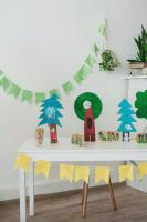 Table with crafts and diy decorations